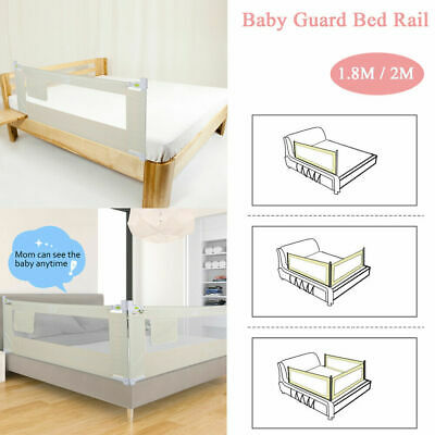 """59""""-79"""" Foldable Toddler Bed Rail Baby Crib Side Safety Guar"""
