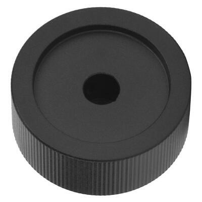 Volume Control Black Frosted Aluminum Knob For 6mm Potentiometer 32x13mm