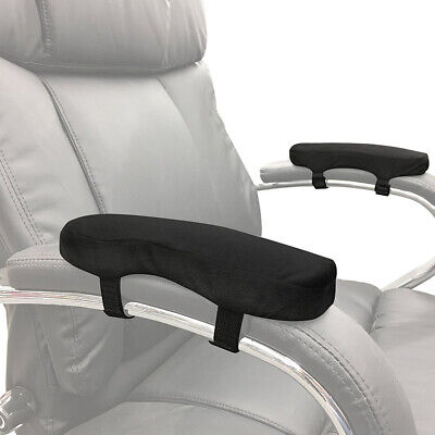 Memory Foam Chair Armrest Cushion Pad Elbow Arm Rest Cover Stress Pain Relief