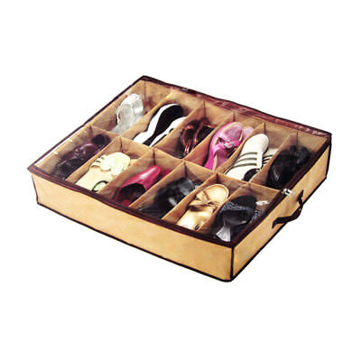 12 Pairs Shoe Storage Home Organizer Holder Container Under Bed Closet Shoe Box