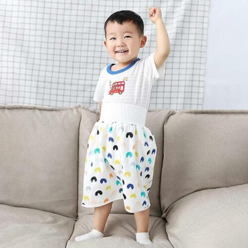 как выглядит 2 in 1 Comfy Childrens Diaper Skirt Shorts Waterproof and Absorbent Shorts фото