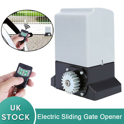 Automatic Sliding Gate Opener Electric Operator + Remote Control 2000KG 750W UK