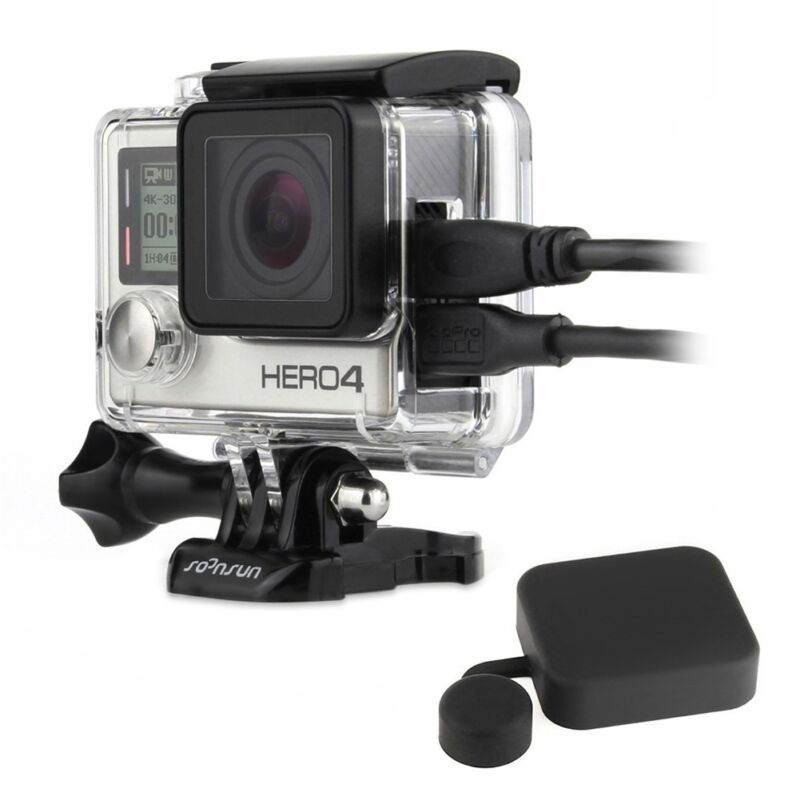 Clear Side Open Protective Case Skeleton Housing Mount FPV for GoPro Hero 4 3+ 3