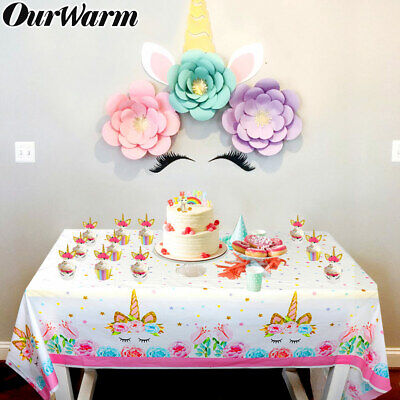 Magical Unicorn Kid Birthday Party Table Cover Table Cloth Disposable Party Deco](Disposable Table Cloth)