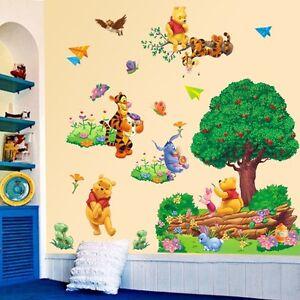 Winnie The Pooh 3D Wall Sticker Art Vinyl Home Decal DIY Nursery Kids