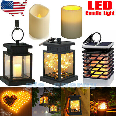 LED Candle Light Outdoor Solar Lantern Hanging Light Waterproof Yard Party (Hanging Party Lights Lanterns)