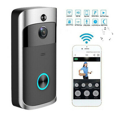 Wireless WiFi Door Bell IR Visual HD Camera Smart Waterproof Security System New