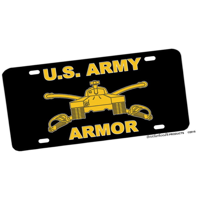 United States Army Armor Tanks Design Aluminum License Plate Novelty Sign