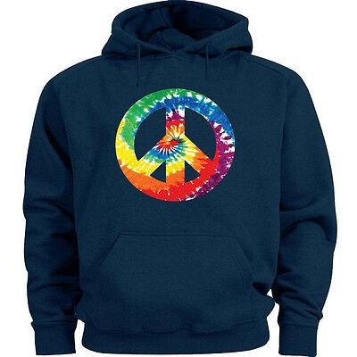 Big and tall sweatshirt hoodie tie dye peace sign sweat shirt men's tall size Big And Tall Sweatshirt