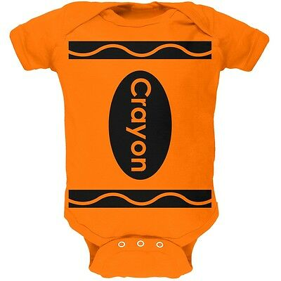 Crayon Costume Orange Soft Baby One Piece