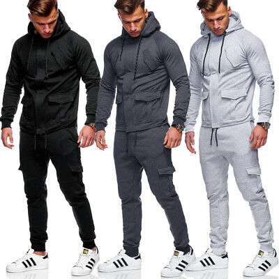 Herren Jogginganzug Trainingsanzug Sweatjacke + Jogginghose Hoodie Zip-Jacke NEU Zip-hoodie Hose