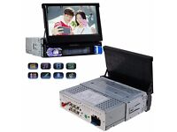 """7"""" 1 Din Retractable Screen Bluetooth Car Radio Stereo Video Player USB/SD/AUX/F"""