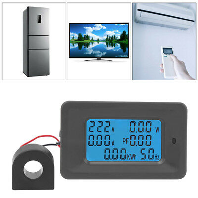 AC110-250V 100A Digital LCD Panel Meter Monitor Power Energy Ammeter Voltmeter H Lcd-panel-meter