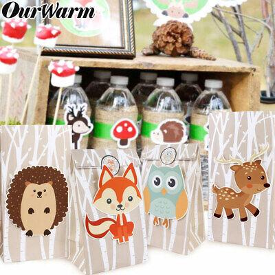 Safari Themed Gifts (12x Safari Animals Gift Bags Candy Bag Jungle Theme Packing Bag Kids Party)
