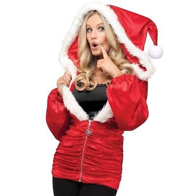 Fun World Costumes Holiday Hoodie Small/Medium Christmas Santa Jacket
