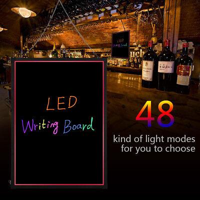 Flashing Illuminated Erasable Neon Led Message Menu Sign Writing Board 32x24