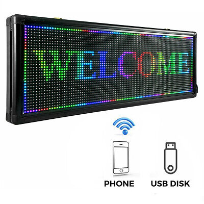P10 40 X 15 Inch Full Color Led Sign Programmable Scrolling Message Display