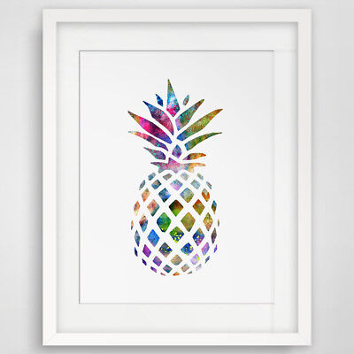 Modern Colorful Pineapple Wall Painting Office Home Room Decor Unframed Fashion