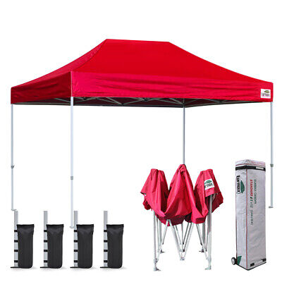 8X12 Red Ez Pop Up Canopy Instant Tent Shelter Party Tent Patio Gazebo Shelter