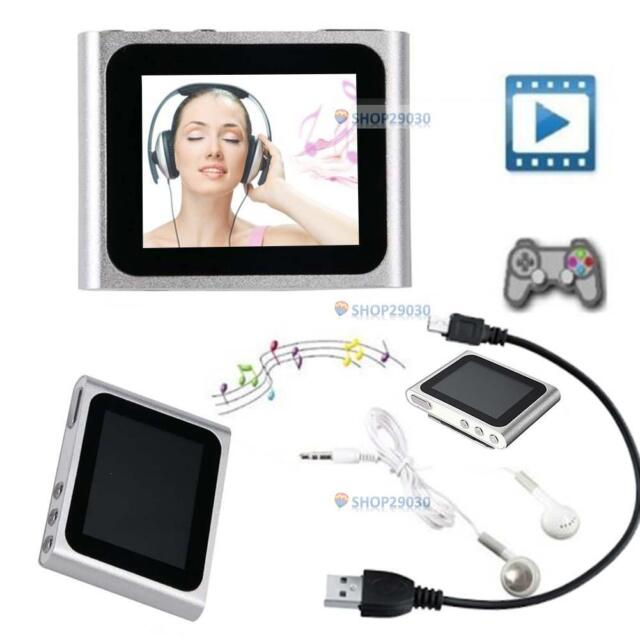 "6TH GENERATION MP3 MP4 MUSIC MEDIA PLAYER FM Games Movie 1.8""LCD SCREEN NEW E T0"