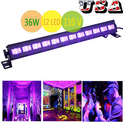 36W UV Stage Light 12 LED DJ Wall Wash Black Light Effect Bar Disco Party Light (Uv Light Party)