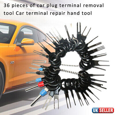 36pcs Car Auto Electrical Wiring Connector Pin Extractor Terminal Removal Tool