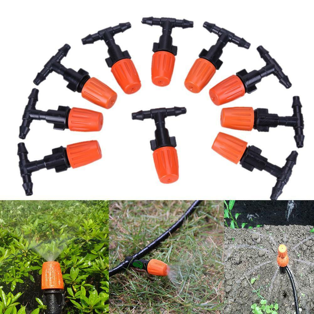 10pcs DIY Micro Drip Irrigation Plant Self Watering Garden Hose Sprinklers