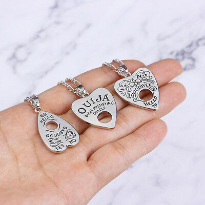 Hollow Love Heart Pendant Witch Divination Letter Necklace Chain Jewelry New Tre