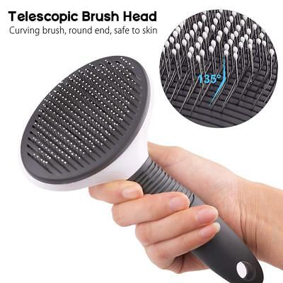 Self Cleaning Dog Cat Slicker Brush Grooming Brush Comb Shedding Tool Hair Fur