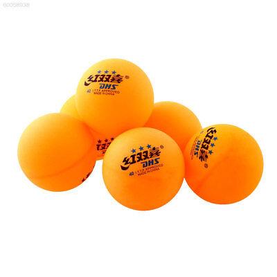 DCE6 6Pcs 3 stars 40MM Tennis Orange Ping Pong Balls Professional Trainning