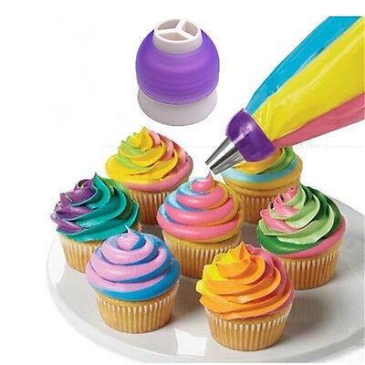 Icing Piping Nozzles Tip Pastry Bag Cake Sugarcraft Decorating Tool Set 3 Color