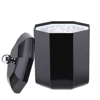 Mini Ice Can Ice Bucket Wine Champagne Ice container,Black Plastic Cube Cooler