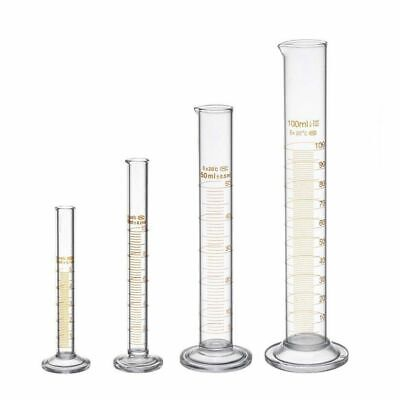 Measuring Graduated Cylinder Laboratory Equipment Glass Chemistry Test Tube Set
