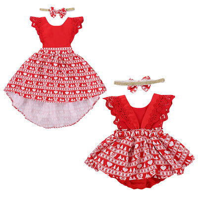 Christmas Costume For Baby Girl Toddler Kid Romper Dress Xmas Outfits Clothes](Christmas Outfits For Girls)