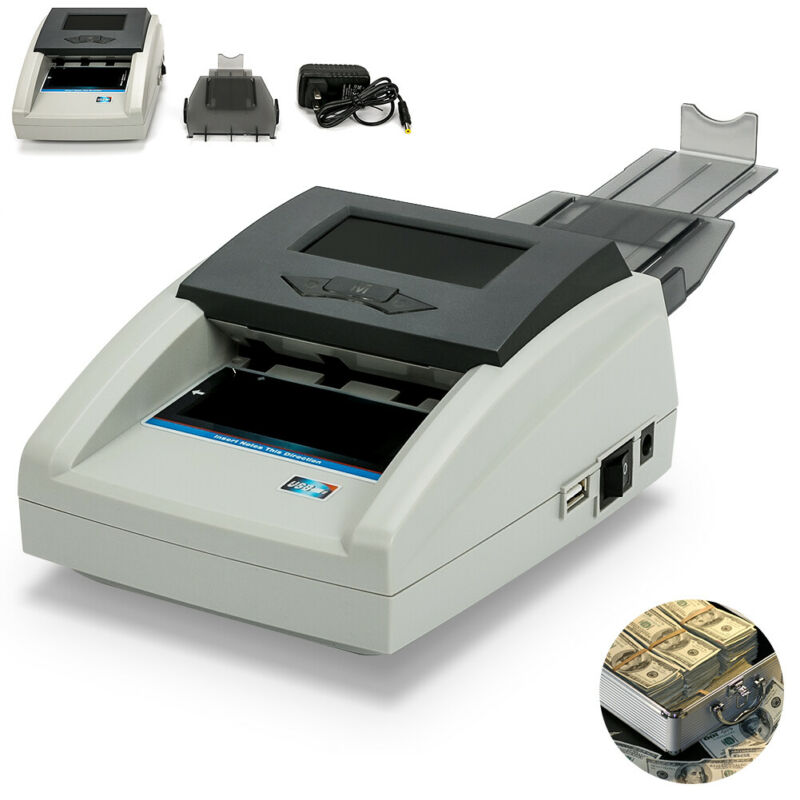 Money Bill Counter Counting Machine Counterfeit Detector UV/MG/IR US Cash Bank