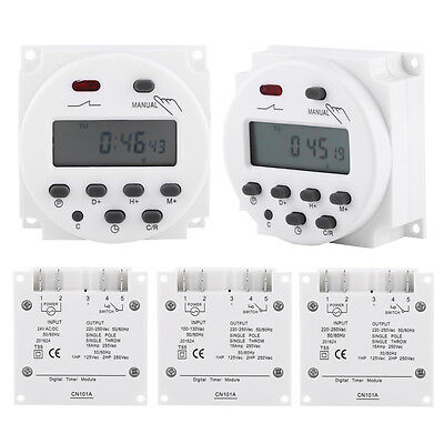 Cn101a 24v-220v Lcd Digital Weekly Programmable Power Timer Time Relay Switch Im