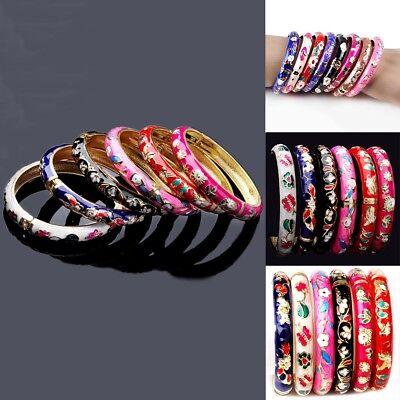 5pcs Fashion Women Colourful Enamel Cuff Bangle Bracelet Wristband Chain Jewelry (Enamel Bangle Jewelry)