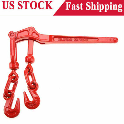 Load Binder Ratcheting Pull Lever Boomer Chain Hook Tie Down Rigging Equipment