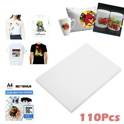 Bettersub 110 Sheets A4 Dye Sublimation Paper Heat Transfer For Diy T-shirts Mug