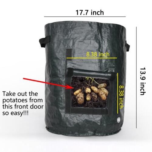 710 Gallon Plant Grow Bag Home Garden Pots Potato Vegetable Growing Nursery Pot