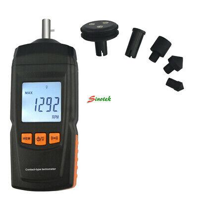 Gm8906 Digital Contact Tachometer 0.519999 Speed Tach Meter Rpm Gauge Handheld