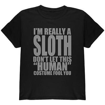 Halloween Human Sloth Costume Youth T Shirt