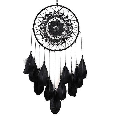 Black Feather Handmade Dream Catcher Car Wall Door Hanging Decoration Ornaments