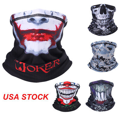 New Joker Face (Halloween Clown Joker Balaclava Face Mask Motorcycle Ski Ghost Neck Gaiter)