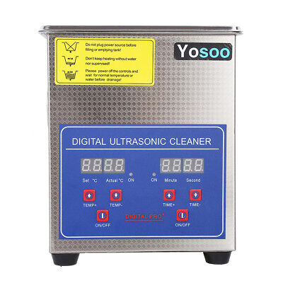 Us Stainless Steel 2l Liter Industry Heated Ultrasonic Cleaner Heater Wtimer