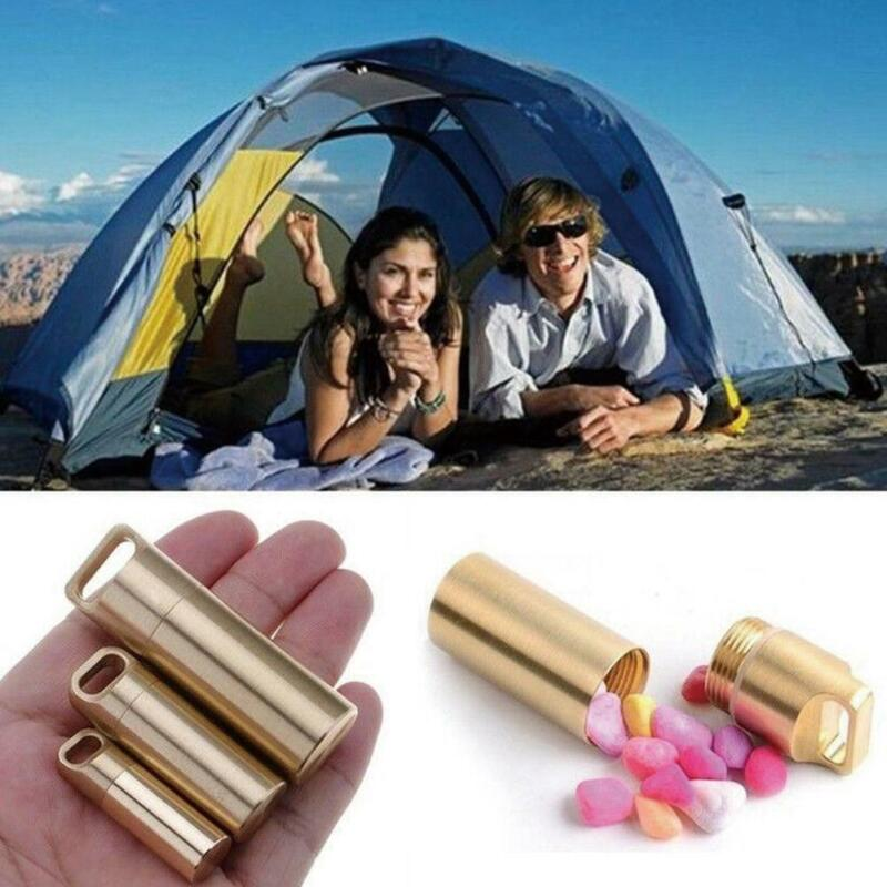 Pill Box Case Holder Container Metal Capsule Bottle Storage