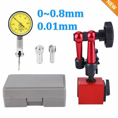 Magnetic Flexible Base Holder Stand Dial Test Indicator Gauge Scale 0.01mm