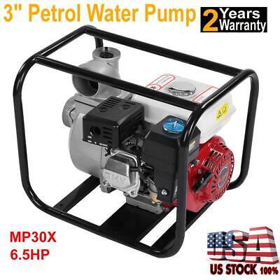 """3"""" Petrol Water Transfer Pump 6.5HP High Flow Pressure Fire Garden Irrigation US"""