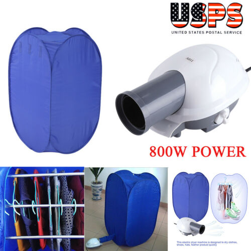 Portable Electric Clothes Dryer Heater Drying Rack Wardrobe