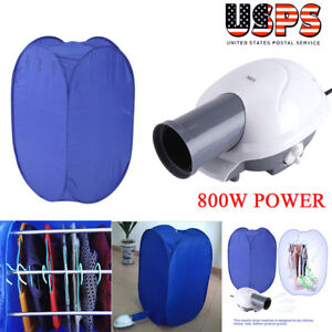 Portable Electric Clothes Dryer Heater Drying Rack Wardrobe Machine W/ Air Pump